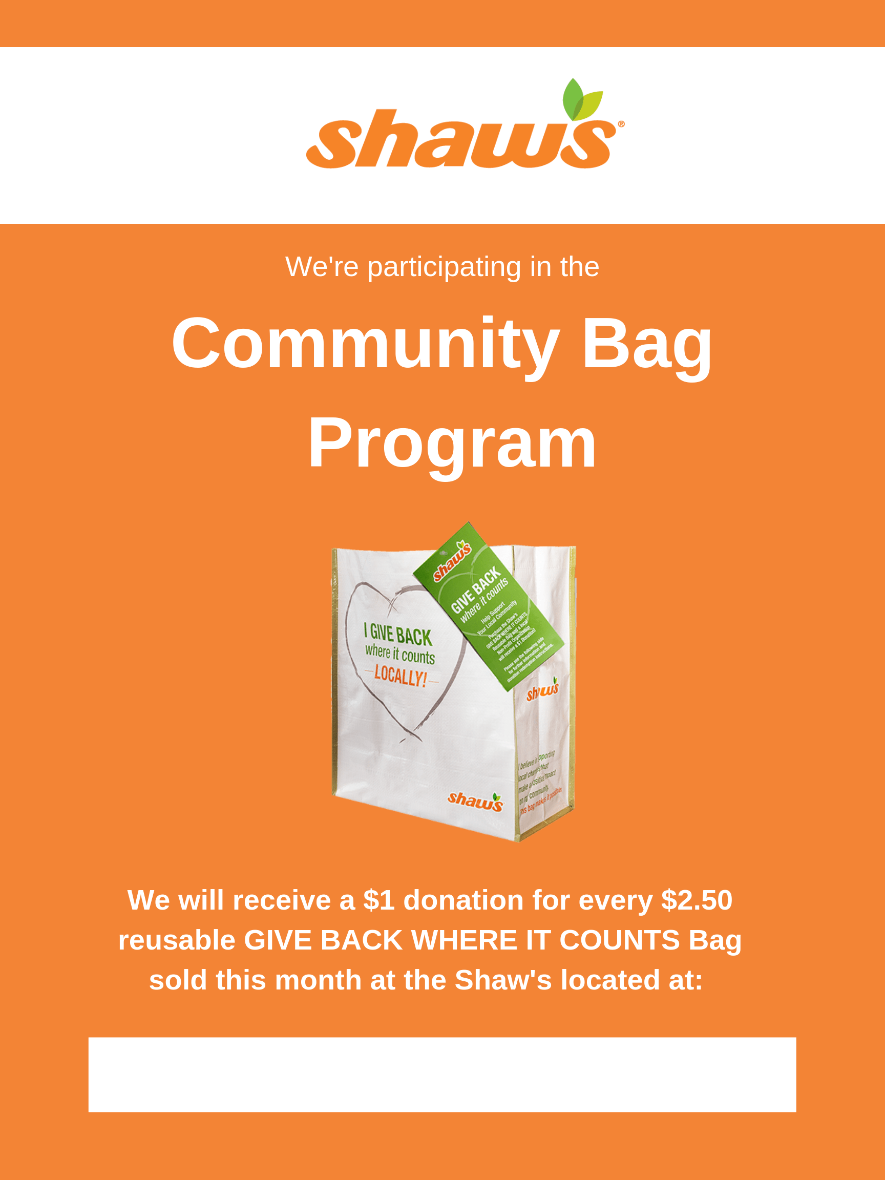 Shaw's Flyer - Bag